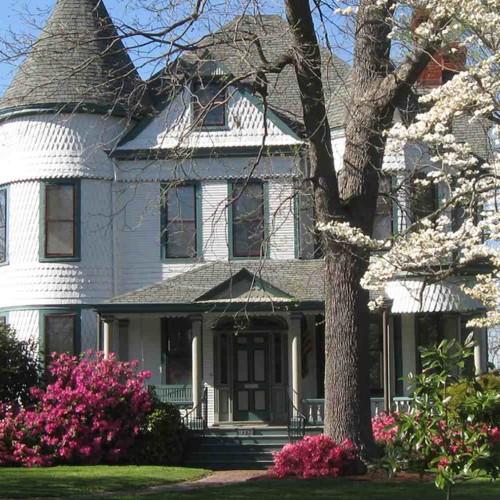 Historic Home with Azaelas